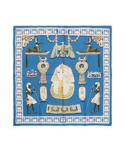 Hermès | Vintage Tutankhamun Silk Pocket Square 16 X 16