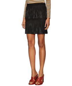 Valentine Gauthier   Areca Leather Fringe Skirt