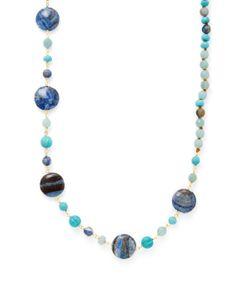 Chanluu | Large Zebra Jasper Stone Station Necklace