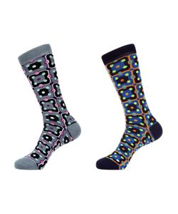 Jared Lang | Squa Circle Multi Socks 2 Pk