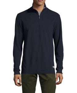 Brooks Brothers | Stand Collar Half Zip Sweater