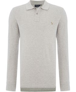 Paul Smith Jeans | Mens Regular Fit Long Sleeve Zebra Logo Polo