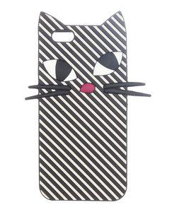 Lulu Guinness | Mono Stripe Kooky Cat Iphone 6 Case