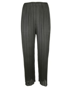 Pleats Please By Issey Miyake | Pleated Straight Trousers