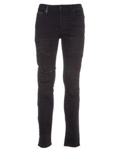 MARCELO BURLON | Distressed Slim Jeans