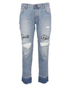Gaelle Bonheur   Distressed Embroide Jeans