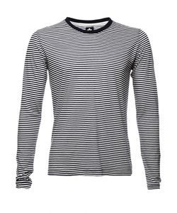 Altalana | Silk Cotton Extrafine Comfort Stripe Long Sleeve T-Shirt