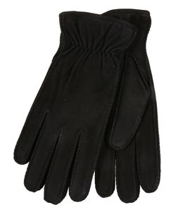 Restelli | Suede Lamb Gloves With Rabbit Lining