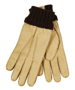 Restelli | Deer Gloves With Stitching In Contrast