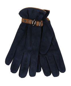 Restelli | Suede Leather Gloves With Deerskin Belt