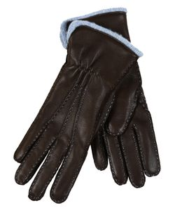 Restelli | Deer Hand-Stitched Gloves With Cashmere Lining.