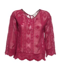 Forte Forte | Patterned Scalloped Edge Top