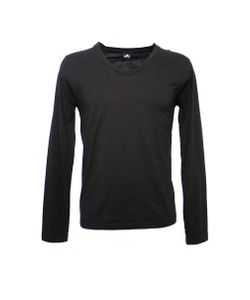 Altalana | Flamed Cotton Long Sleeves V Neck T-Shirt