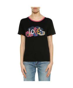 Saint Laurent | Love Printed Cotton T-Shirt