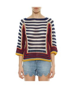 RED Valentino   Striped Knit Top