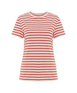 Finery | Wisteria Zip Detail Stripe Jersey T-Shirt /Off