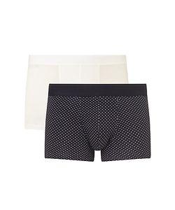 Sunspel   Dot Plain Trunks Pack Of 2 /Navy