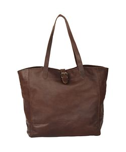 Fat Face | Shaped Buckle Tote Bag Chocolate