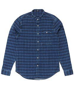 Denham   Gingham Check Shirt Indigo