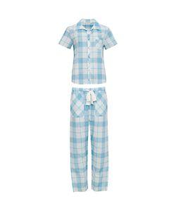Cyberjammies | Camilla Check Print Short Sleeved Pyjama Set Aqua