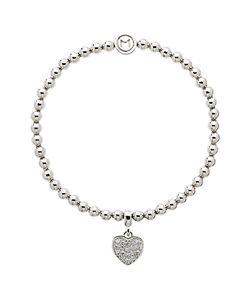 Melissa Odabash | Crystal Heart Bracelet
