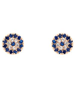 Melissa Odabash | Glass Crystal Evil Eye Stud Earrings