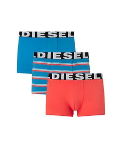 Diesel | Shawn Stripe Plain Trunks Pack Of 3 /