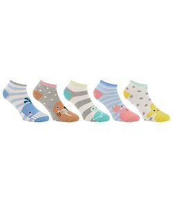 John Lewis   Sea Animal Trainer Socks Pack Of 5 Multi