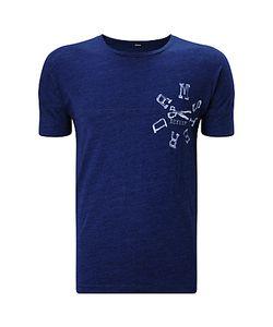 Denham   Dnm-Ams Cotton T-Shirt Indigo