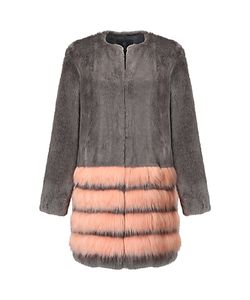 Unreal Fur | Tundra Coat Charcoal/Peach