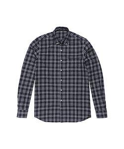 Denham   Pocket Brushed Flannel Shirt Marl