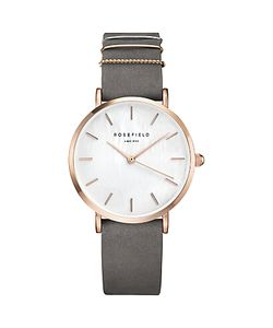 ROSEFIELD | Womens The West Village Leather Strap Watch
