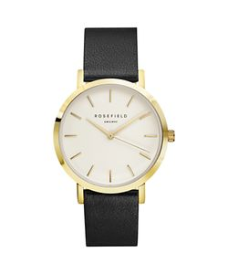 ROSEFIELD | Womens The Gramercy Leather Strap Watch