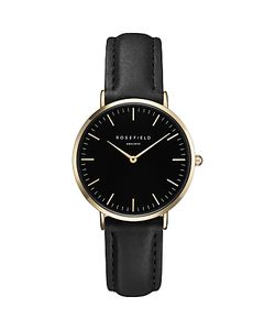 ROSEFIELD | Womens The Tribeca Leather Strap Watch