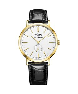 ROTARY | Gs90190/02 Mens Les Originales Leather Strap Watch /