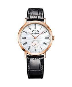 ROTARY | Ls90193/41 Womens Les Originales Leather Strap Watch /