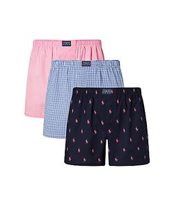 Polo Ralph Lauren | Woven Cotton Boxers Pack Of 3 /