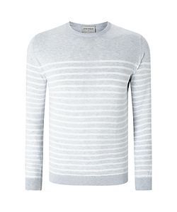 John Smedley | Free Sea Island Cotton Striped Crew Neck Jumper Feather
