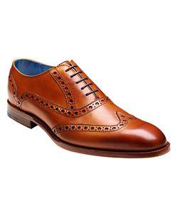Barker | Grant Calf Leather Brogue Shoes Cedar