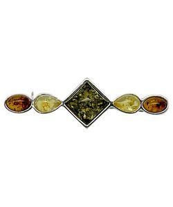 Goldmajor | Sterling Multi Amber Bar Brooch Amber