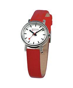 Mondaine | Unisex Evo Leather Strap Watch