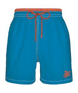 Vilebrequin | Moorea Solid Moka Embroide Swim Shorts