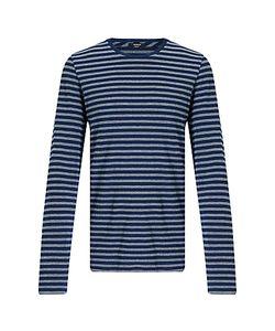 Denham   Signature Crew Long Sleeve Stripe T-Shirt One Year