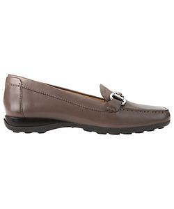 Geox   Euro Buckle Slip On Loafers Taupe