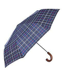 Barbour | Tartan Telescopic Umbrella Navy