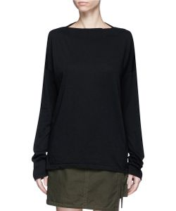 Bassike | Boat Neck Organic Cotton Long Sleeve T-Shirt