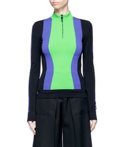 Emilio Pucci | Contrast Stripe Zip Front Sweater