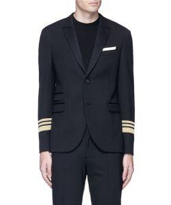 Neil Barrett   Stripe Cuff Slim Fit Tuxedo Blazer