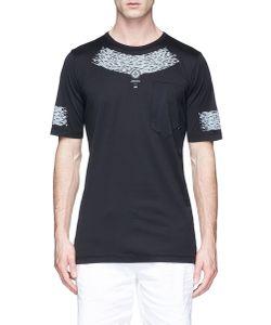 Stone Island   Geometric Print Mako Cotton T-Shirt
