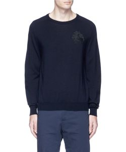 Ports   Embroide Wool Sweater
